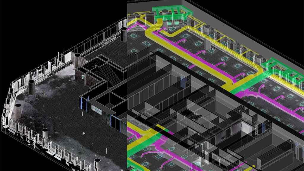 Uno de los gemelos digitales de un edificio, obtenido con la tecnología de Dsign Cloud