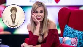 Ana Obregón, junto a una imagen de Álex Lequio, en un fotomontaje de JALEOS.