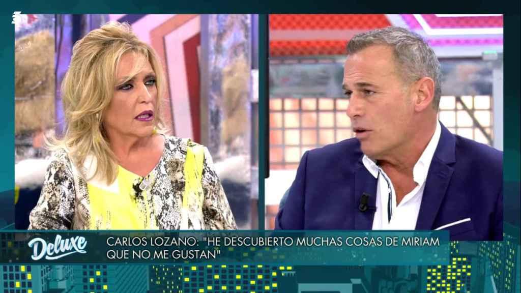 Lydia Lozano y Carlos Lozano, en 'Sábado Deluxe'.