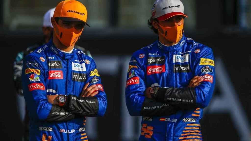 Carlos Sainz y Lando Norris en el GP de Abu Dhabi