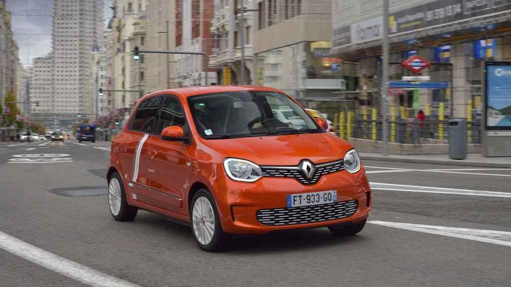 El Renault Twingo en la Gran Vía de Madrid.