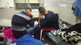 Dos de los marroquíes ilegales explotados en la empresa de Murcia.