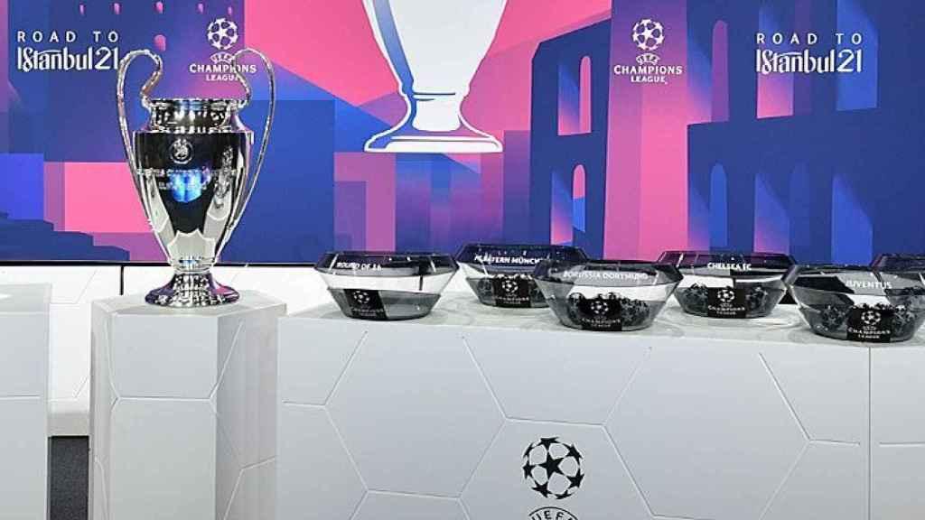 Los bombos del sorteo de la Champions League