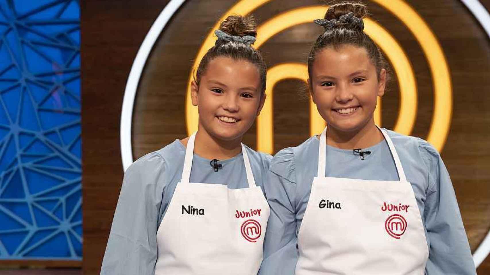 Nina y Gina, las gemelas que revolucionarán las cocinas de 'MasterChef Junior 8'.