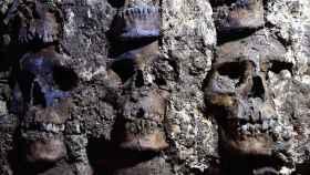 El hallazgo de cráneos humanos en Ciudad de México (México).