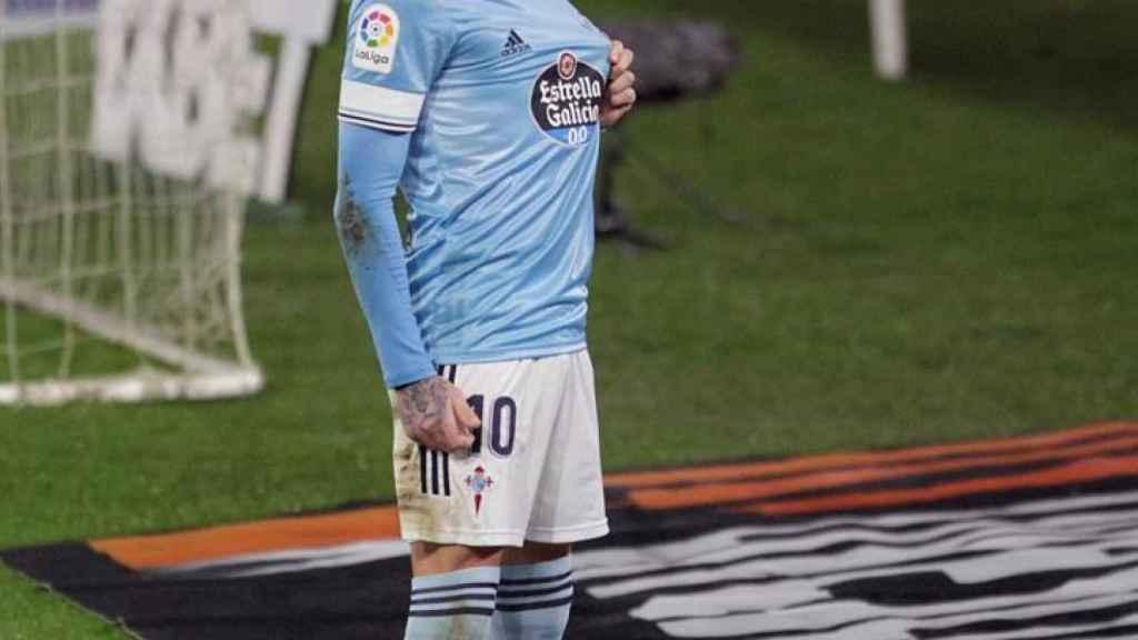 Iago Aspas celebra un gol con el Celta de Vigo en La Liga 2020/2021