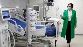 Isabel Díaz Ayuso durante la inauguración del hospital Enfermera Isabel Zendal.