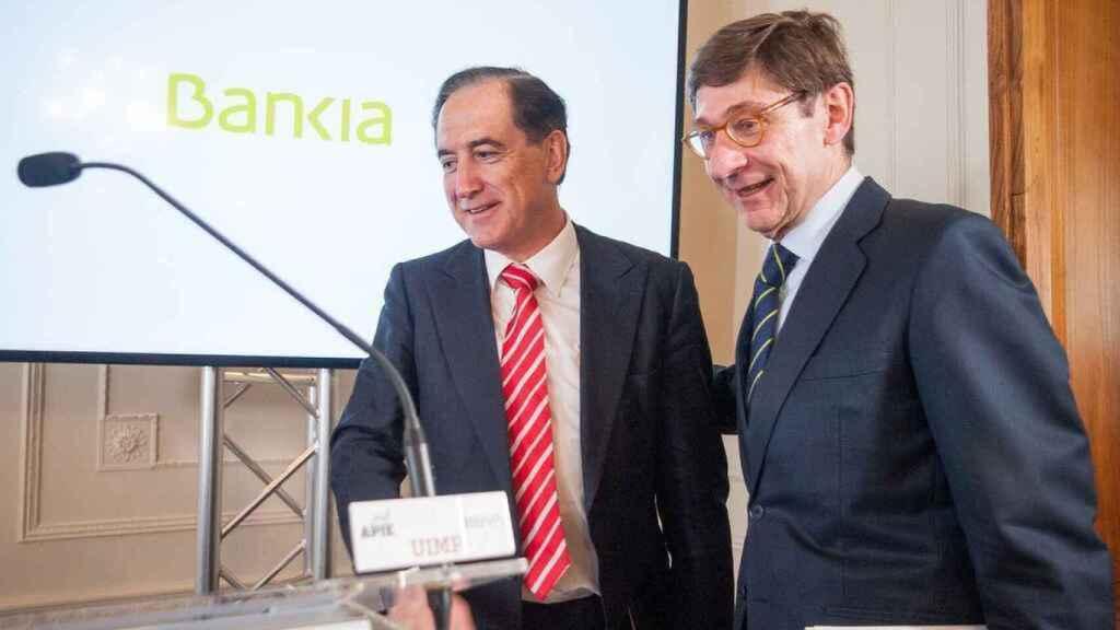Antonio Huertas, presidente de Mapfre y José Ignacio Goirigolzarri, presidente de Bankia.