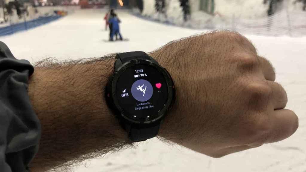 El Honor Watch GS Pro intentando conectarse al GPS.