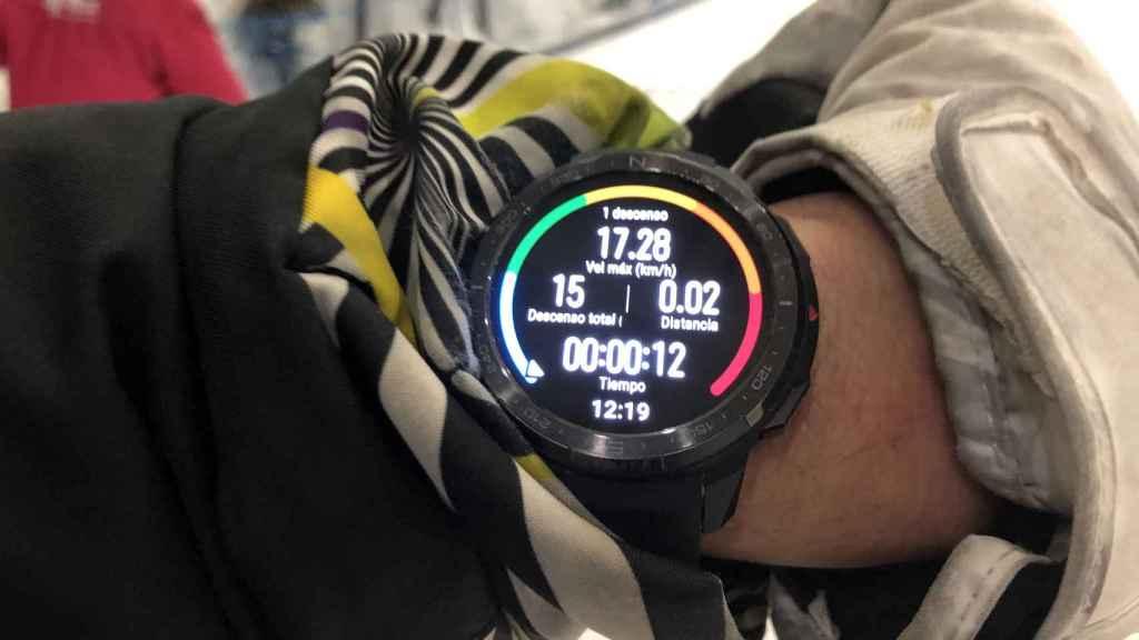 EL Honor Watch GS Pro muestra desde la velocidad hasta la distancia recorrida.