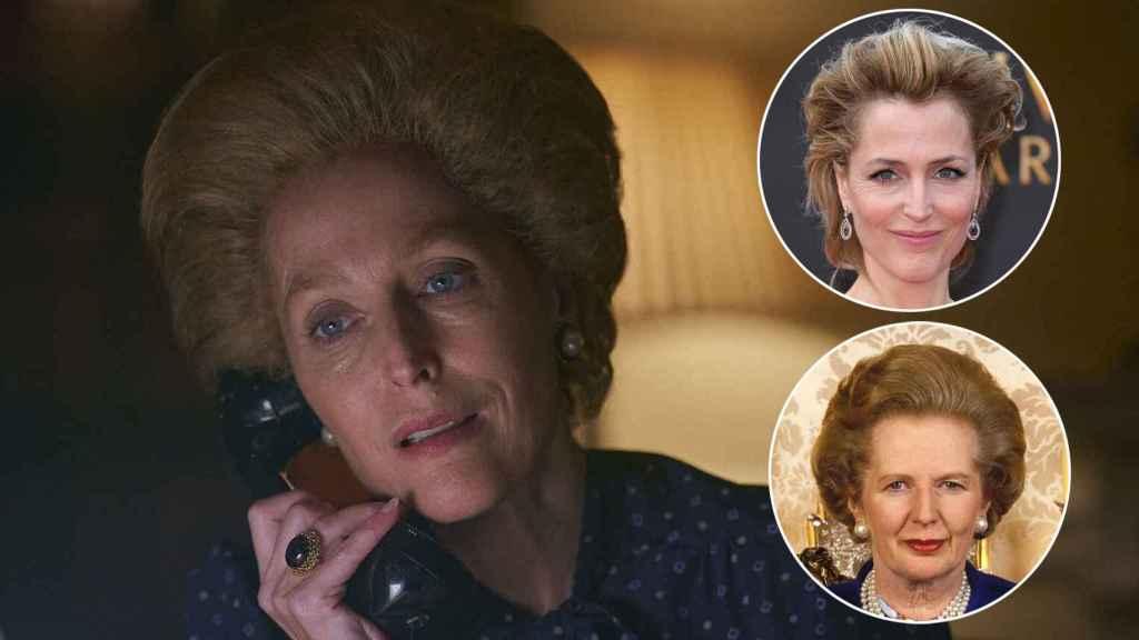 Gillian Anderson como Margaret Thatcher.