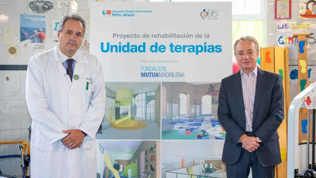 César Gómez, gerente del Hospital Niño Jesús y Lorenzo Cooklin, director general Fundación Mutua