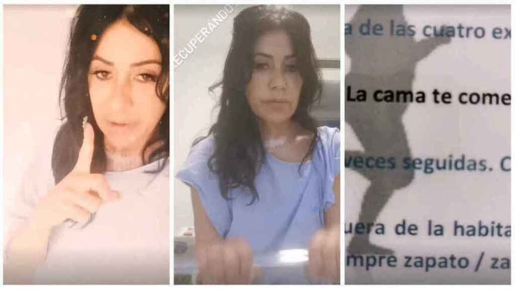 Tres momentos de Maite Galdeano en su Instagram explicando su alta hospitalaria.