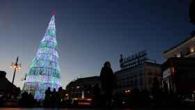 Decoración navideña en Madrid.
