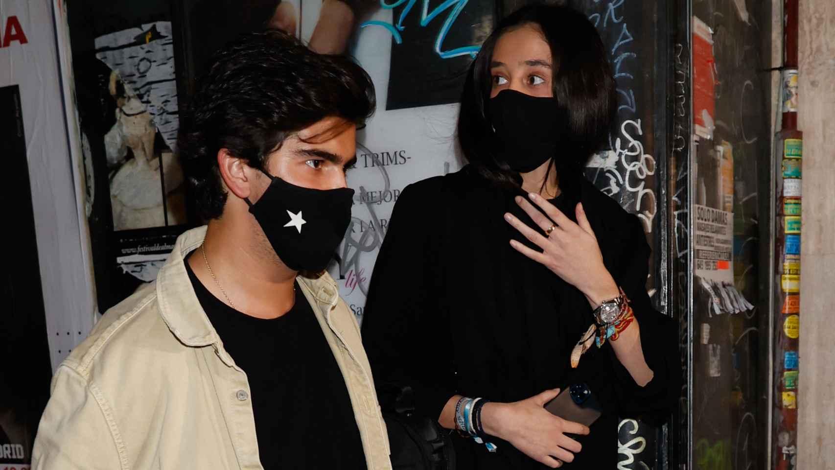 Jorge Bárcenas junto a Victoria Federica en el momento en el que oye que la llaman ladrona.