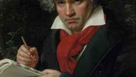 Retrato de Beethoven con el manuscrito de la 'Missa solemnis' (1820), de Joseph Karl Stieler.