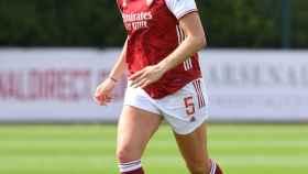 Jen Beattie, jugadora del Arsenal. Foto: Twitter (@ArsenalWFC)