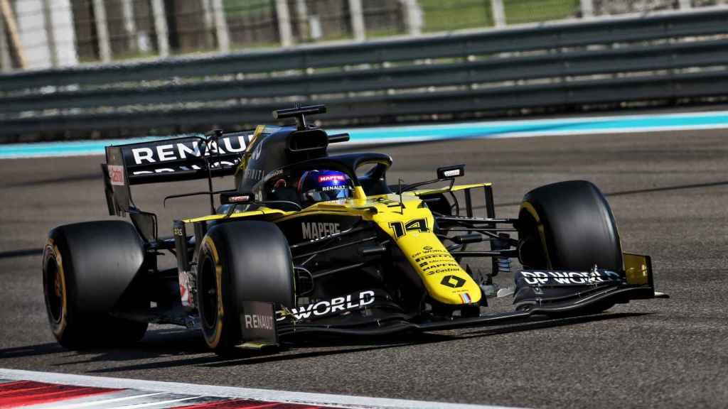 Fernando Alonso rodando en Abu Dhabi