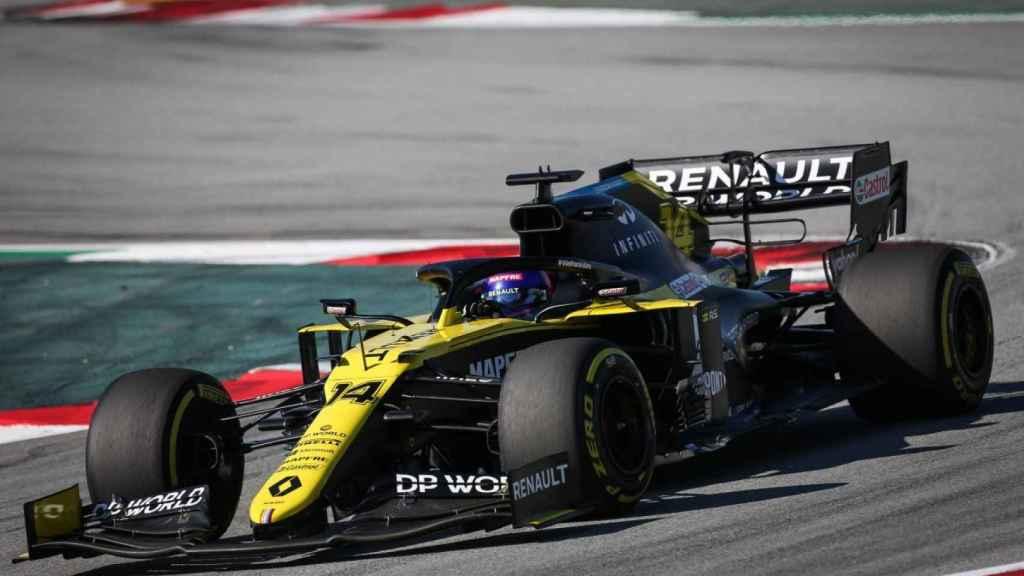 Fernando Alonso, con el Renault RS20