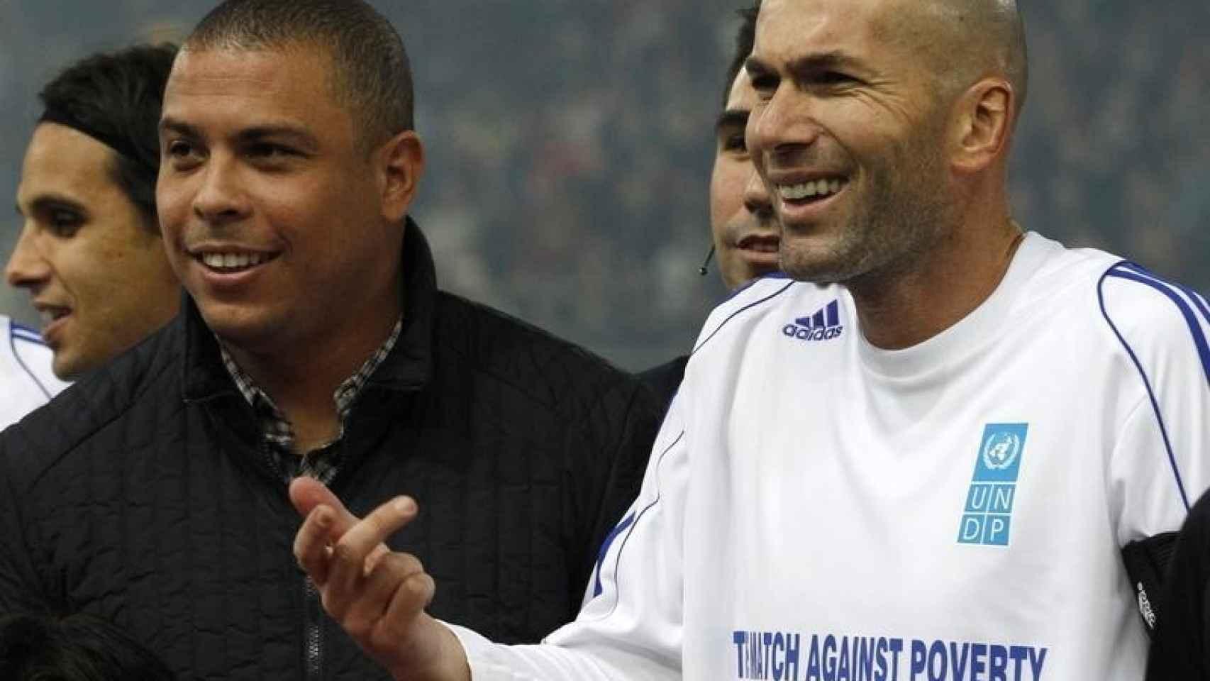 Zinedine Zidane y Ronaldo Nazario