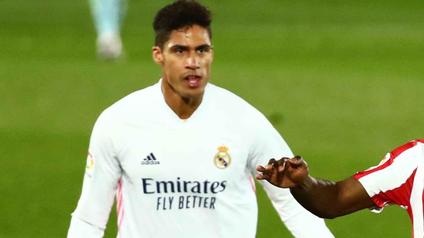Varane, en el Real Madrid - Athletic de La Liga