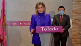 Milagros Tolón, alcaldesa de Toledo, y Teo García, concejal de Cultura