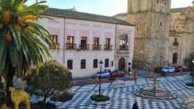 Plaza del Pan de Talavera con la Colegial al fondo. Foto: Ayuntamiento