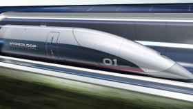 Imagen del HyperloopTT cápsula en tubo.