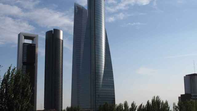 imagen de las Cuatro Torres de Madrid.