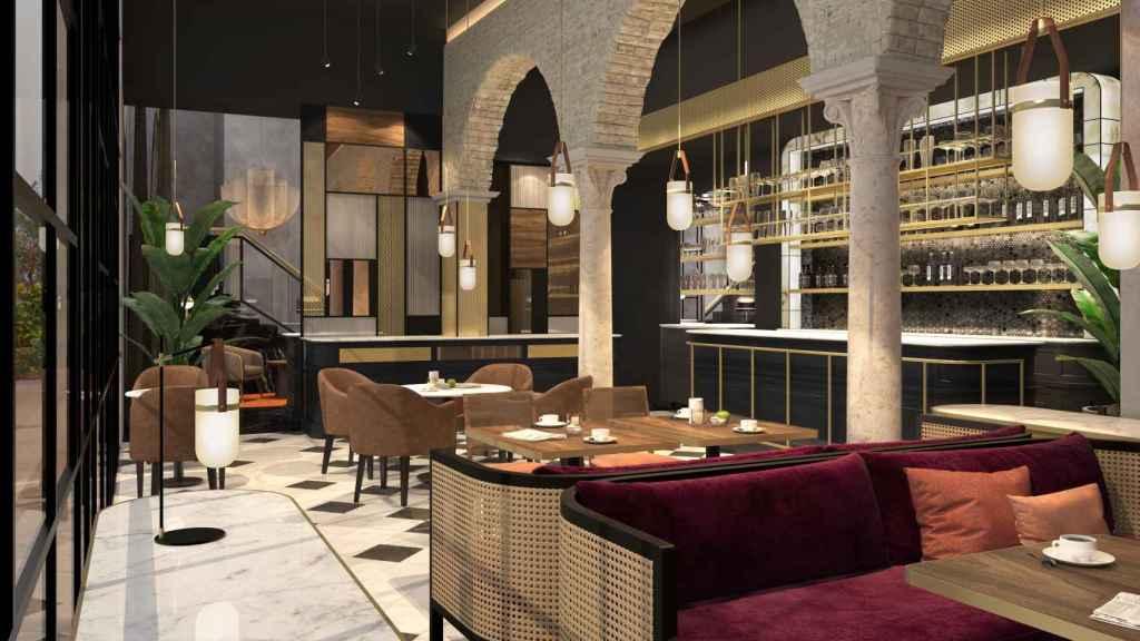Lobby bar del Hotel Seises Sevilla de la cadena Marriott International.