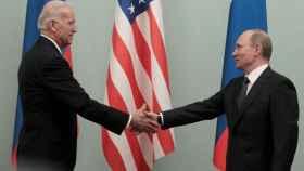Joe Biden y Vladimir Putin en una imagen de archivo.