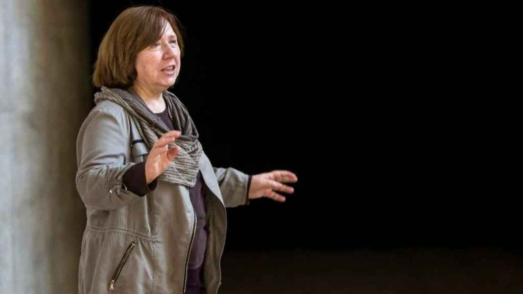 La periodista y escritora bielorrusa Svetlana Aleksiévich.