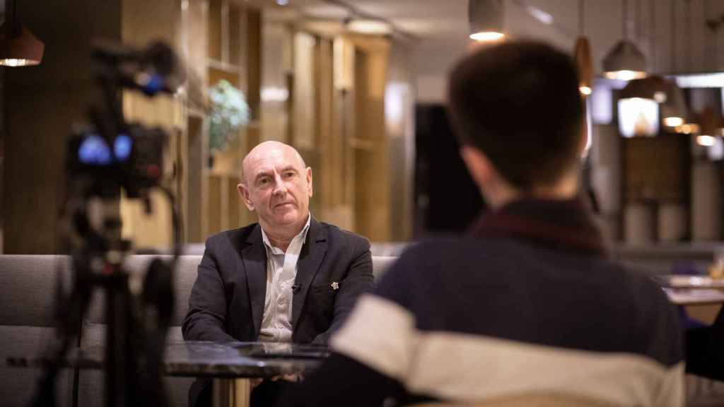 Iñaki Arteta, en un momento de la entrevista con EL ESPAÑOL.