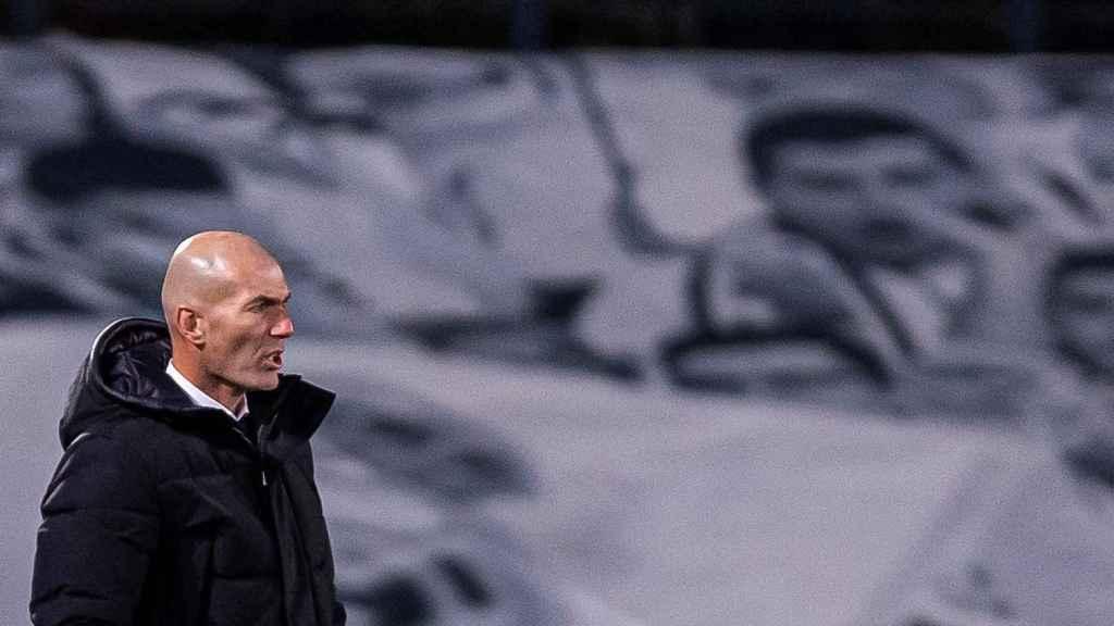 Zinedine Zidane, durante un partido de La Liga