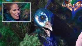 Pastora Soler tras quitarse la máscara.