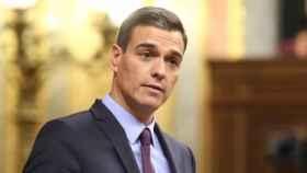 El presidente del Gobierno, Pedro Sánchez, este miércoles en el Congreso