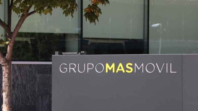 Fachada de la sede del Grupo MásMóvil en Madrid.