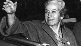 La escritora Gabriela Mistral.