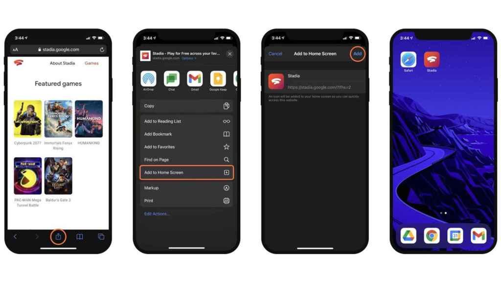 Cómo añadir Stadia a iOS