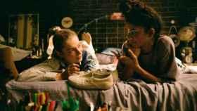 Zendaya y Hunter Schafer en el rodaje del especial 'Part 1: Rue' de 'Euphoria'.