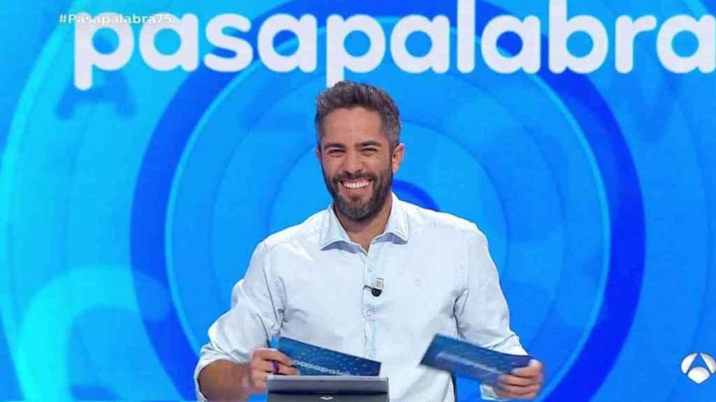 Roberto Leal durante la emisión de un programa de 'Pasapalabra'.