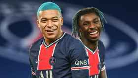 Kylian Mbappé celebra un gol con el PSG