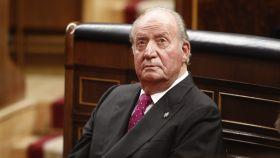 Juan Carlos I en el Congreso de los Diputados en 2019.