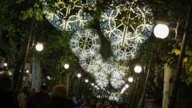 Luces de Navidad en Granada capital.