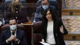 Isabel Díaz Ayuso, presidenta de la Comunidad de Madrid, este jueves en la Asamblea.