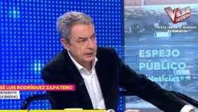 El expresidente del Gobierno, José Luis Rodríguez Zapatero, en una entrevista en Antena 3 este jueves.