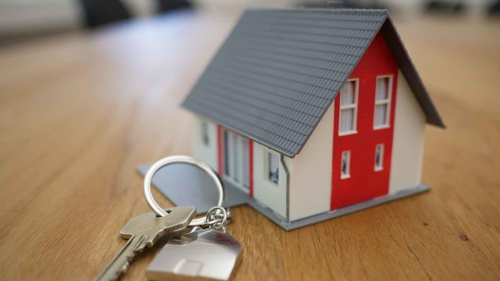 Montaje sobre el mercado inmobiliario.