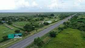 Una de las autopistas que Sacyr construye en Colombia.