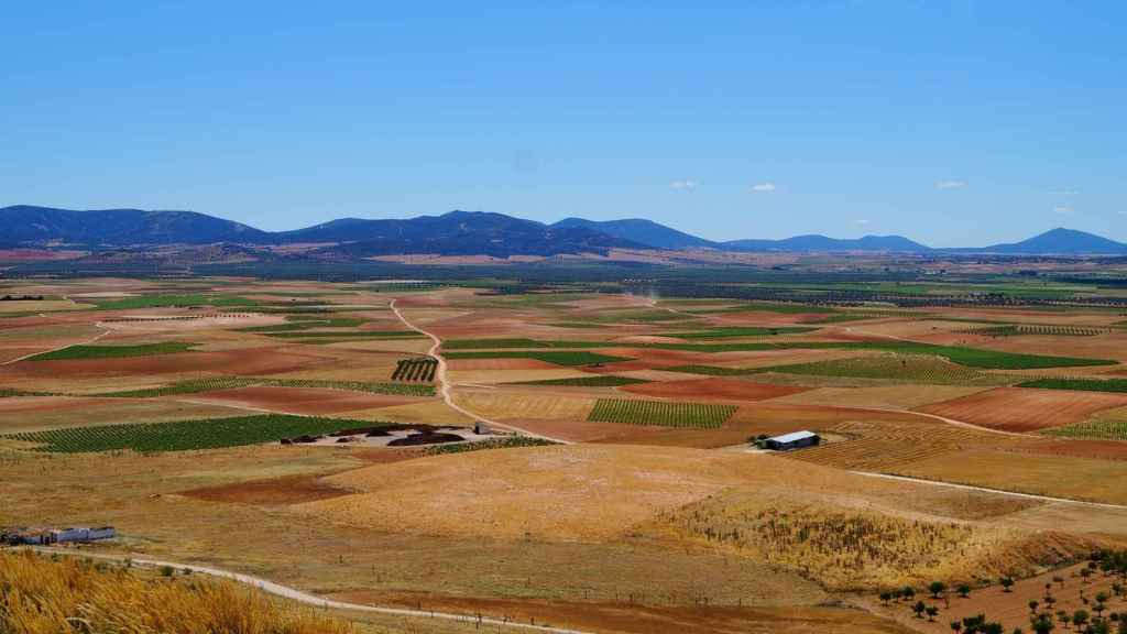 Imagen de los campos de Castilla-La Mancha.