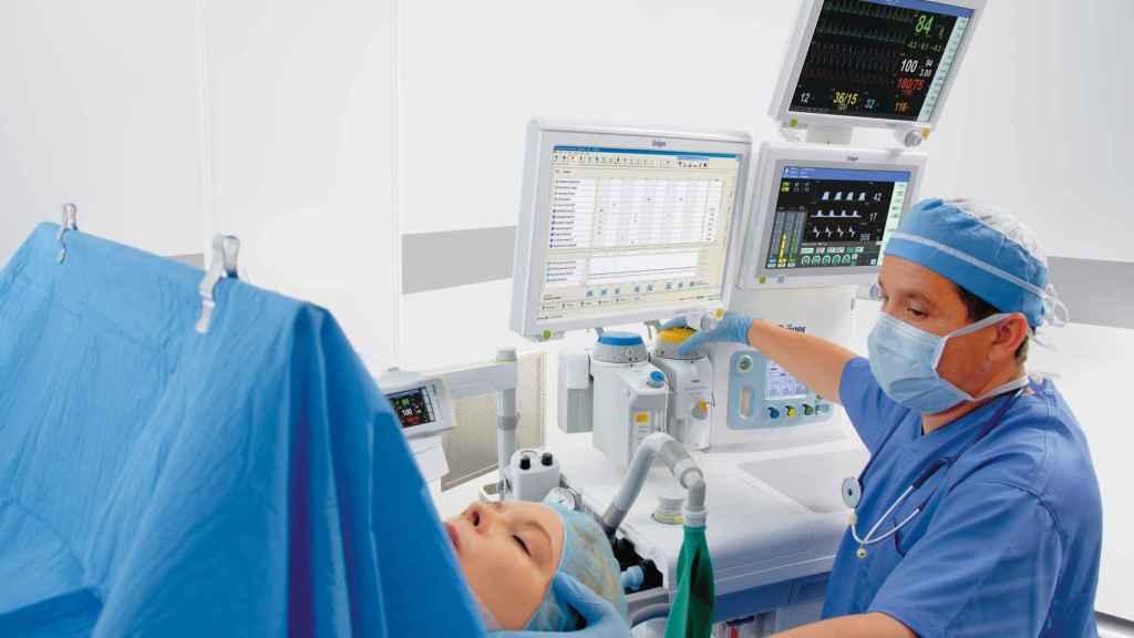 Un equipo médico de Dräger.